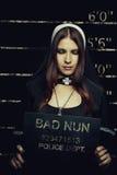Bad nun Royalty Free Stock Photo