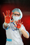The bad nurse. Stock Images