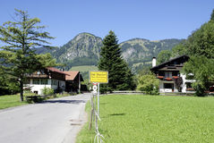 Bad Oberdorf in the Allgaeu Alps in Bavaria Stock Images