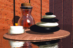 Bad och avslappnande objekt Fotografering för Bildbyråer