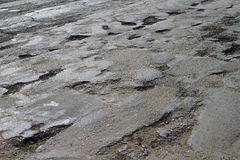 Bad old cracked damaged asphalt royalty free stock image