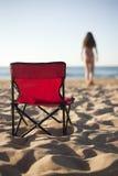 Bad på stranden Arkivfoton