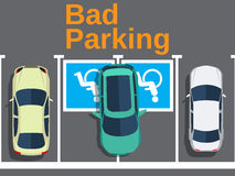 Bad parking. car parked for disabled Stock Images