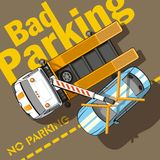 Bad parking Stock Photography