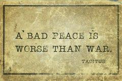Bad peace Tacitus stock image