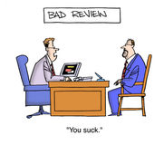 Bad Performance Review Stock Photography