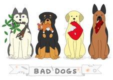 Bad psy ilustracji