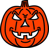 Bad pumpkin. It's a bad pumpkin, just for a funny halloween vector illustration