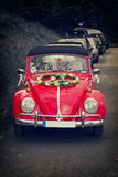 Bad Pyrmont, Germany - MAI 16 : Volkswagen retro vintage car with wedding decoration Royalty Free Stock Photography