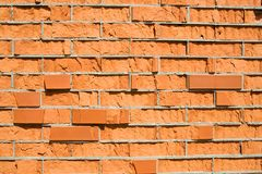 Bad-quality brick wall Stock Images