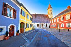 Bad Radkersburg colorful street view stock photography
