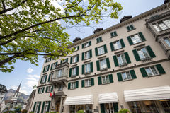 Bad ragaz swiss. Bad ragaz switzerland stock photography