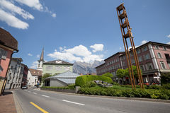 Bad ragaz swiss. Bad ragaz switzerland royalty free stock image