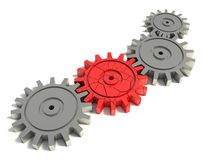 Bad red gear Royalty Free Stock Photo