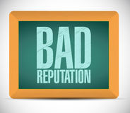 Bad reputation board sign illustration design Royalty Free Stock Photography