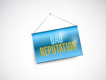 Bad reputation hanging banner Royalty Free Stock Image