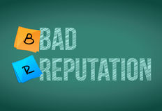 Bad reputation illustration design Royalty Free Stock Images