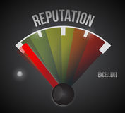 Bad reputation speedometer illustration design Stock Image