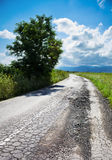 Bad road cracked Stock Photo