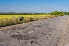 Bad road Stock Photo
