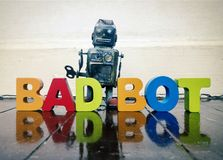 Bad robot royalty free stock image