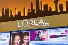 BAD SÄCKINGEN, GERMANY - JULY 21 2018: L`Oréal logo above sale stock photo