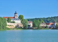 Bad Salzungen,Thuringia,Germany. Lake Burgsee in Village of Bad Salzungen,Thuringia,Germany Royalty Free Stock Images