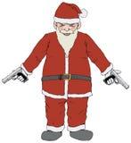 Bad Santa. Illustration for sarcastic Christmas greetings Stock Image