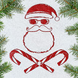 Bad Santa christmas card Royalty Free Stock Photography