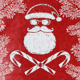 Bad Santa christmas card Royalty Free Stock Image