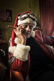 Bad Santa with cigar Royalty Free Stock Images