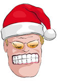 Bad Santa Claus. Illustration of an evil Santa Claus Stock Images