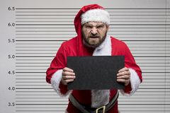 Bad Santa Claus. Pointing on you, concept christmas Royalty Free Stock Photography