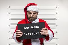 Bad Santa Claus. Pointing on you, concept christmas Stock Photos