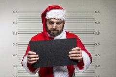 Bad Santa Claus. Pointing on you, concept christmas Stock Photo