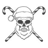 Bad Santa Claus biker with candies poster.  Stock Photography