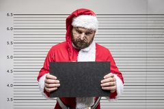 Bad Santa Claus. Pointing on you, concept christmas Royalty Free Stock Photos