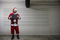 Bad Santa Claus. Pointing on you, concept christmas Stock Image