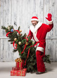 Bad Santa Clause Royalty Free Stock Images