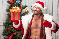 Bad Santa Clause Royalty Free Stock Photo