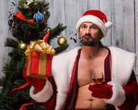 Bad Santa Clause Stock Images