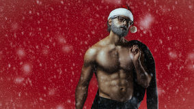 Bad santa fantasy Stock Image