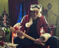Bad Santa Royalty Free Stock Photography