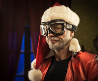 Bad Santa with goggles Royalty Free Stock Images