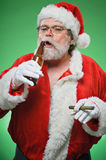 Bad Santa WIth A Martini And Cigar Royalty Free Stock Photography