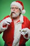 Bad Santa WIth A Martini And Cigar Royalty Free Stock Photography