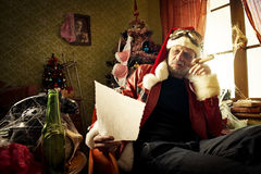 Bad Santa Royalty Free Stock Photo