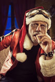 Bad Santa smoking a cigar Royalty Free Stock Photo
