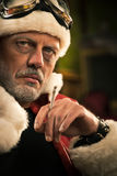 Bad Santa smoking a joint Royalty Free Stock Image