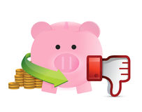 Bad savings illustration design Stock Image